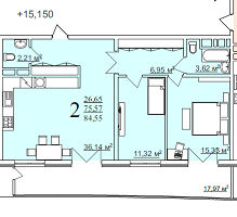 Квартира на продажу по адресу Россия, Краснодарский край, городской округ Краснодар, Краснодар, набережная Кубанская, 3